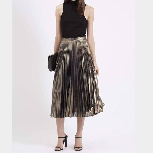 0537f867cb Topshop Metallic Midi Skirt. M_5b5d4aabc89e1dd62cd02c99